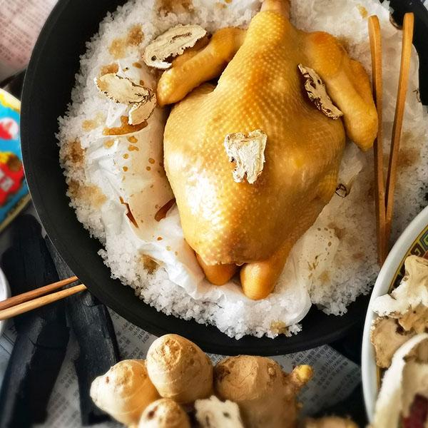 Salt Baked Herbal Chicken